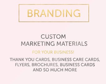 Custom Marketing Materials Package Small Business | Customization