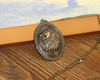 the Game of Thrones Cersei Lannister lion necklace  C234N_B