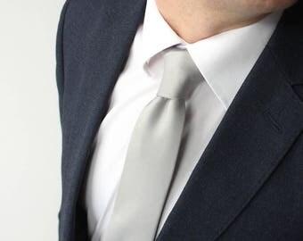 Mens Light Grey necktie Mens Ties Men's necktie Wedding Necktie for Men Camellucci