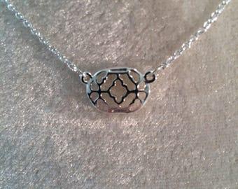 Silver Filigree Pendant Necklace