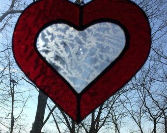 Stained Glass Heart, Suncatcher