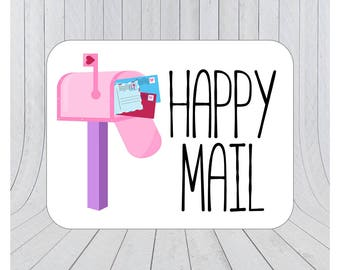 Happy mail stickers, Mail stickers, packaging stickers, delivery stickers, 073