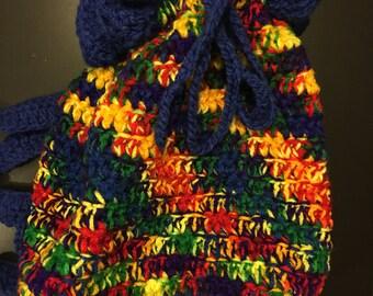 Small Hobo Cinch Bag in Rainbow Bright