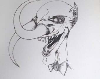 Dapper Demon A3 Limited run art print