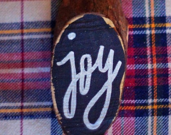 Joy Mini Chalkboard Ornament