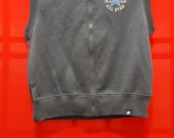 Early 2000's Converse All Star Chuck Taylor Hoodies Sleeveless for Adult