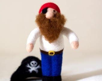 Pirate. Needle Felted Toy. Gift for Boy. Eco Friendly