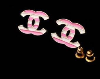 """CC """"candy stripe"""" Earrings"""