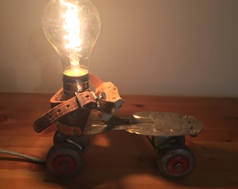 Custom Vintage Roller Skate Lamp