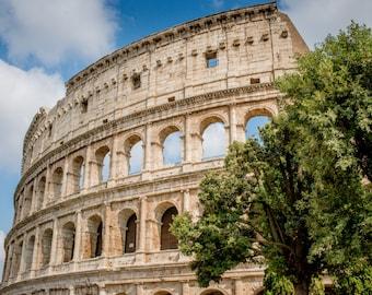 Rome, Italy, Italy Print, Photographic Print, Colosseum, Architectural Print, Rome Photography, Italy Photography, Colosseum Print, Rome