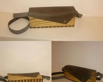 wooden bag