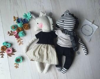 Poupée licorne peluche animale jouet bébé enfant