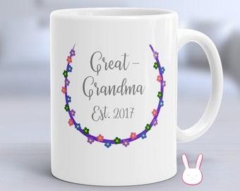 Great Grandma Established 2017 - Great Grandma To Be - New Great Grandma Gift - New Great Grandma Announcement - New Great Grandma Mug