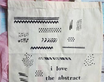 Bag Tote bag I love the Abstract