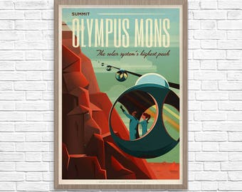 SpaceX Space Print, Mars Travel Poster, SpaceX Space Travel, Mars Poster, Mars Travel, Space Poster, Boys Room, Home Decor, Geek Decor