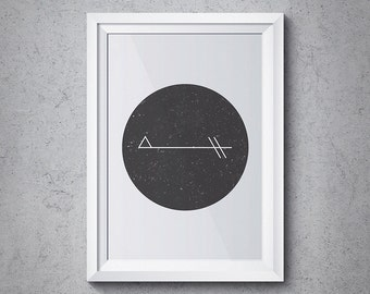Sacred Geometry Print, Abstract Circle Design, Geometry C-A8