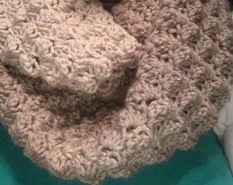 Brown and Tan infinity scarf