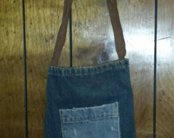 Blue jean pocket purse