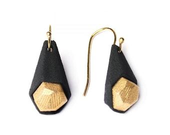 Calyx earrings, 3D printed nylon