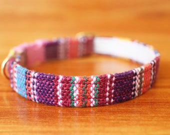 Ethnic cat collar, Tribal Stripe Cat Collar, Chocky Cat Collar, Chocky Cat Collar Breakaway, Small Dog Collar