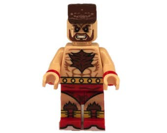 Custom LEGO minifigures -  Street Fighter Zangieff Made with Original LEGO Parts