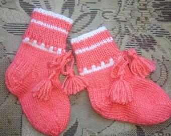 Children's knitted socks