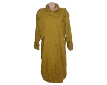 Vintage women coat trenchcoat with belt