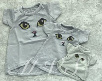 BJD clothes cats eyes gray T-shirt for BJD,in 3 size