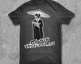 Oasis Geisha T-Shirt Artist Series by MetalMonster