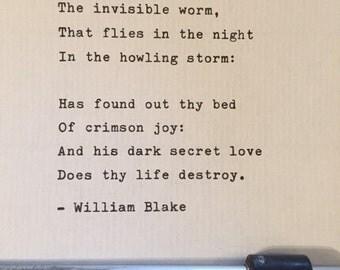 William blake poetry | Etsy