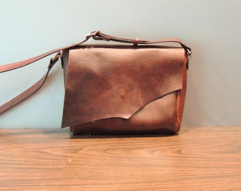 large dark brown conceal carry purse