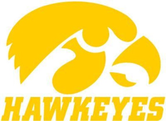 Vinyl Decal Sticker - Iowa Hawkeyes Decal for Windows, Cars, Laptops, Macbook, Yeti, Coolers, Mugs etc