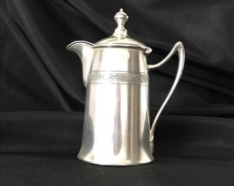 REED & BARTON No. 01670 Silver Plated Floral Band Hollowware Tea / Coffee / Creamer c.1920