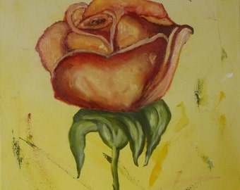 Oil painting rose Original painting