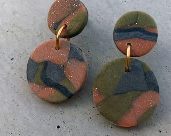 Bambino Earrings - Metallic Camo / Stud Earrings / Drop Earrings / Abstract Earrings / Modern Earrings