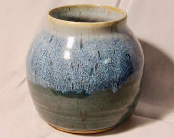 Blue-Green Stoneware Vase