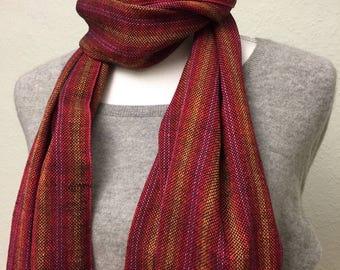 Scarf hand-woven linen cotton summer light