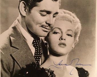 LANA TURNER Hand-Signed Honky Tonk Autographed Photograph with COA