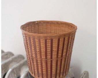 Vintage Basket Planter | Vintage Planter | Vintage Woven Basket | Boho Decor Storage