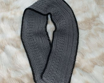 Men's Crochet Scarf With Border