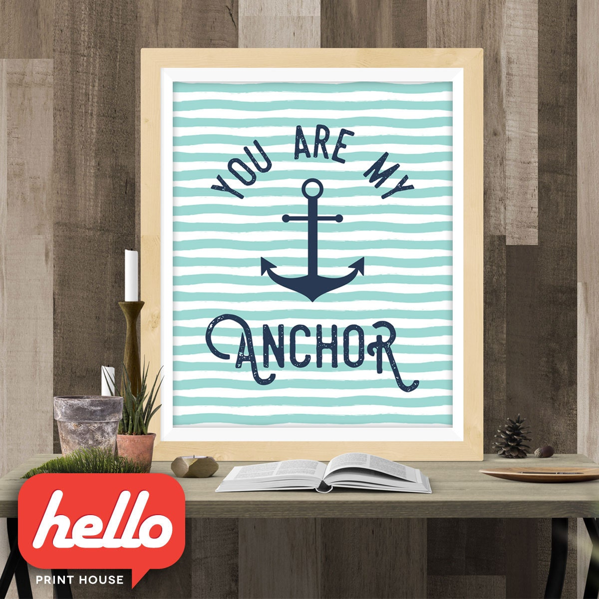 You Are My Anchor - Romantic quote poster Valentine\'s Day Printable ...