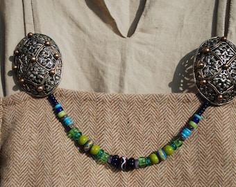 Viking Reenactment Glass Beads, Necklace, Festoon