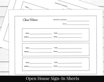 Guest sign in sheet | Etsy