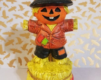 1979 Berman & Anderson, Inc. Musical Scarecrow Figurine