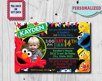 Elmo Invitation / Elmo Birthday Invitation / Sesame Street Invitation / Elmo Birthday Party / Elmo Birthday / Elmo Invite / Elmo Party CK