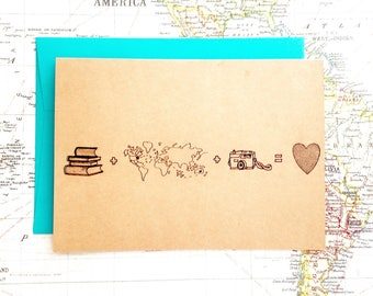 Adventure Awaits Greeting Card, Adventure Themed Cards,Wanderlust Note Cards,Adventure Birthday Card,Adventure Stationary, Custom Note Cards