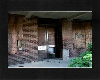 "Custom Matted Print 0300. Abandoned: Marlboro State Mental Hospital, NJ. ""Locked Entrance"" - Collectable Photographic Artwork. (11"" x 14"")"