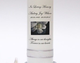 Personalised Memorial & Remembrance Candle Design 1. Fully customised. Handmade in UK.