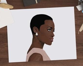 Lupita Nyong'o Vector Illustration