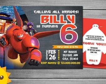 Big Hero 6 Birthday Party Invitation
